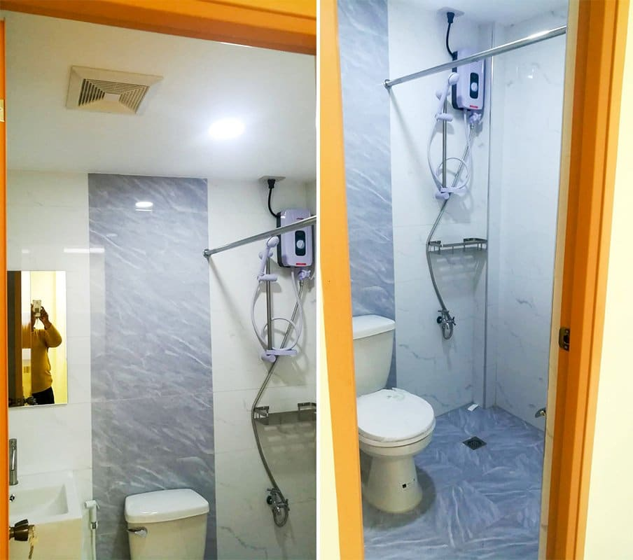Toilet fully furnished with heater and bidet