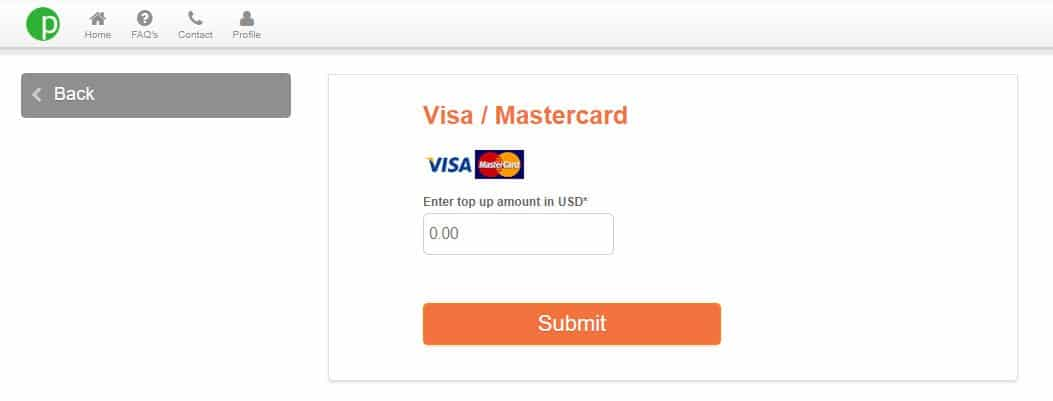 PayPilipinas Online Payment Top UP VISA